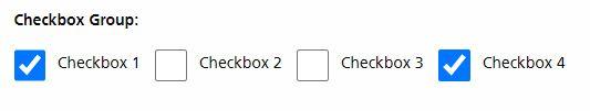 default check boxes