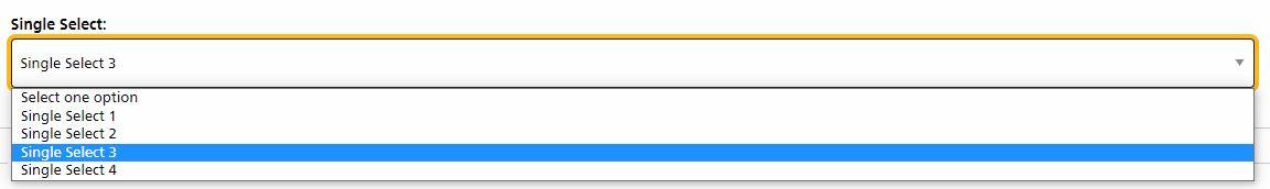 default single select